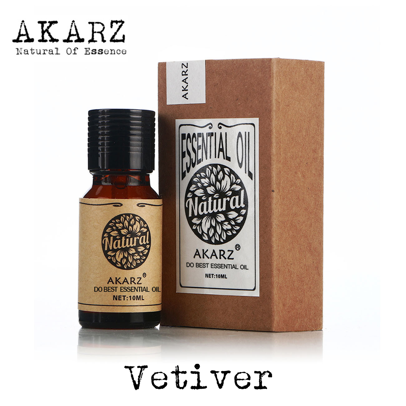 Vetiver Essential Oil AKARZ Brand Natural Oiliness Cosmetics Candle Soap Scents Making DIY Odorant Raw Material Vetiver Oil