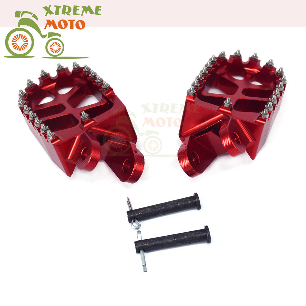 CNC Motorcycle Front Foot Pegs Footpegs Rest Pedals For Honda CR80 XR250 XR400 XR350R 83-84 XR600R 89-00 XR650L XR650R morais r the hundred foot journey