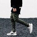 Homens Magros Zíper Feixe Pé Justin Bieber Moletom Com Zíper Lateral Slim Fit Calças Justas Homens Hip Hop Corredores Zipper Carga calças