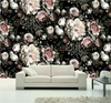 Custom Photo Wallpaper Wall Murals 3D White Rose Flowers Wall Murals Living Room TV Sofa Backdrop