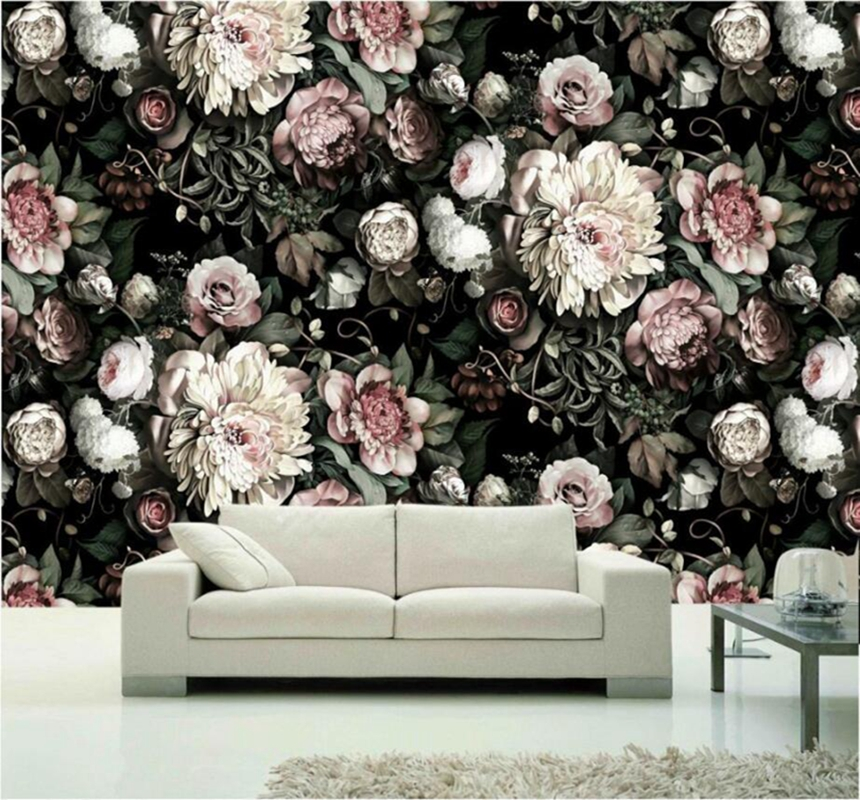 Custom Photo Wallpaper Wall Murals 3D White Rose Flowers Wall Murals Living Room TV Sofa Backdrop Wall Paper Modern Home Decor rage against the machine maximum rage the unauthorised biography of rage against the machine page 7