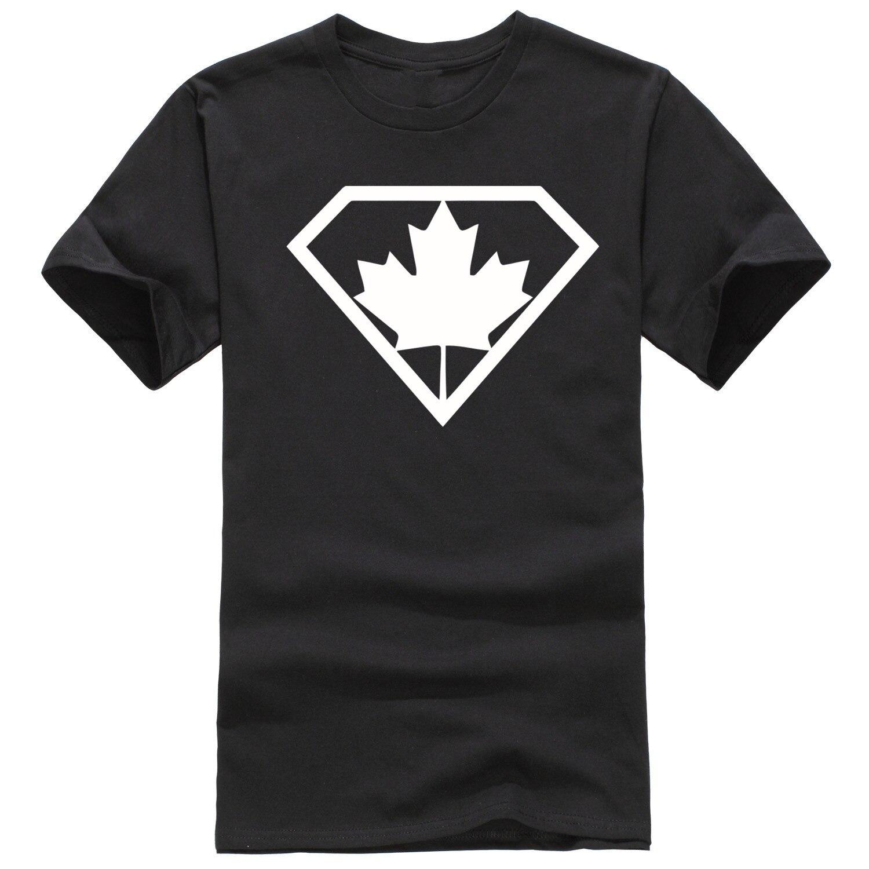 Design tshirt online canada - New Design Cotton Men T Shirt Fashion Super Canada Print Man T Shirt D2043