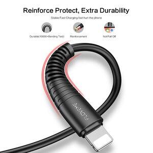 Image 4 - FLOVEME Per Illuminazione Cavo del Caricatore del USB Cavo di Hi di Tensione Cavo di Ricarica USB Per il iPhone di Apple Xs Max XR X 7 6 s 6 s Plus Filo Corto