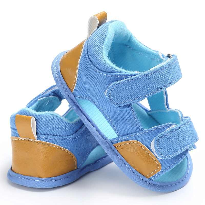Summer Breathable Baby Boys Shoes Kids Splice Color Hollow Out Anti-skid Casual Canvas Cack Shoes