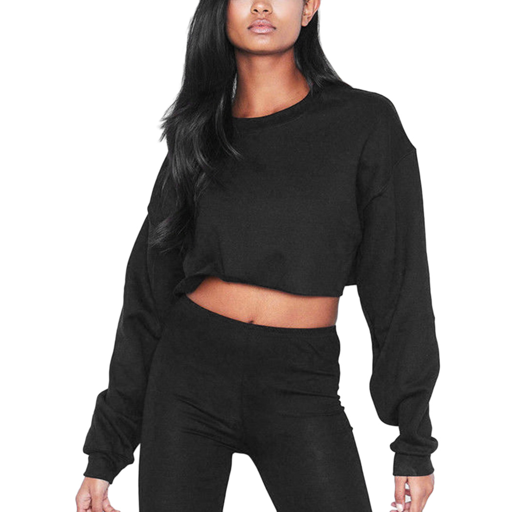 Crop Top Oversized Sweatshirt