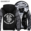 RASMEUP Men Sons Of Anarchy Hoodie Samcro Sitcoms Jax Winter Warm Thick Hoodie Fleece Sweatshirt Hoodie Coat Plus Size M-5xl