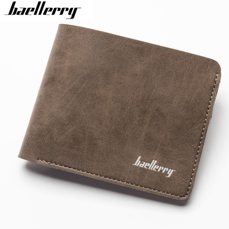 2017 New Style Men Short Wallets Card Holder Coin Pocket PU Leather Casual Solid Small Purse Brand Design Male Wallet male leather casual short design wallet card holder pocket