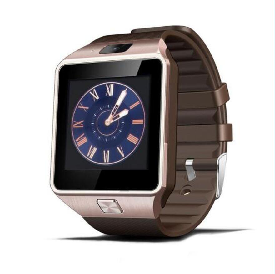 Самые дешевые DZ09 Bluetooth Смарт-часы для мужчин Интеллектуальные цифровые спортивные Смарт-часы Поддержка SIM TF карты напоминание о сообщениях дропшиппинг - Цвет: gold