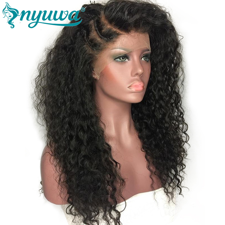Full Lace Human Hair Wigs For Woman Pre Plucked Natural Hairline Curly Brazilian Remy Hair Lace