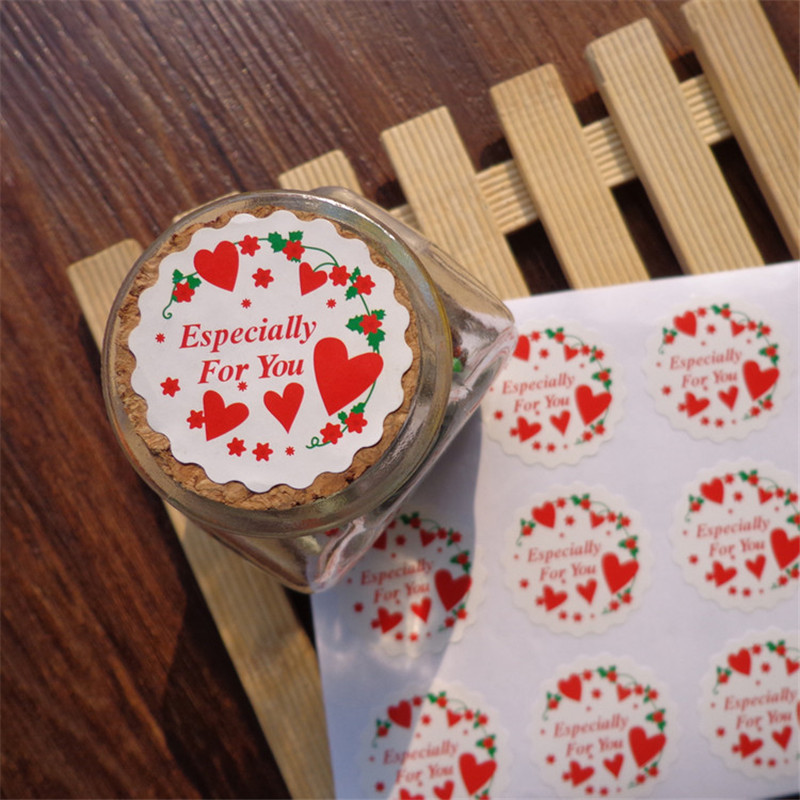 <font><b>120pcs</b></font> <font><b>Sticker</b></font> ESPECIALLY FOR YOU Handmade DIY Paper Label 3.5cm Adhesive Gift Round Paper <font><b>Sticker</b></font> Party Favor Party Decoration image