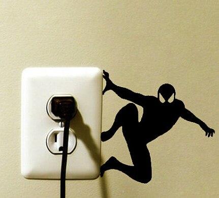 Spider-Man Marvel Light Switch Vinyl Decal Sticker Spider Man