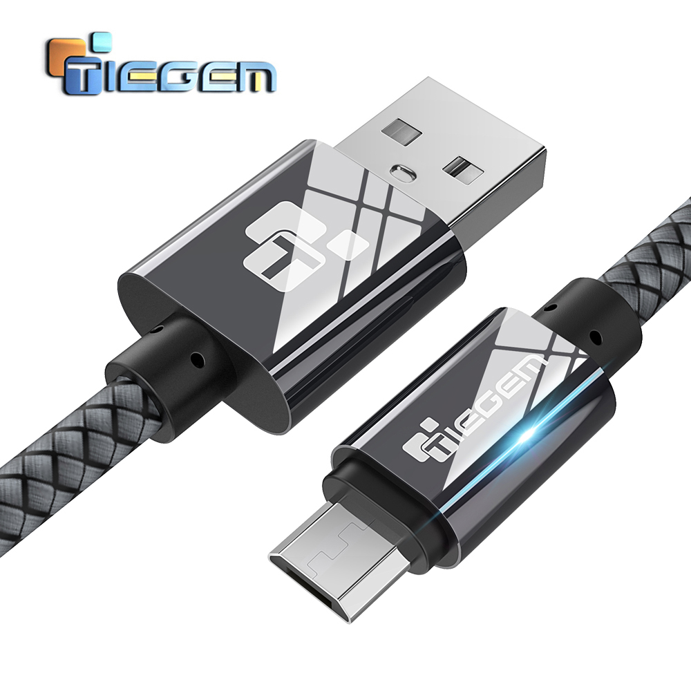 TIEGEM Micro USB Cable 2A Fast Charger USB Data Cable Mobile Phone Charging Cable for Samsung Xiaomi Huawei Android Tablet Cable