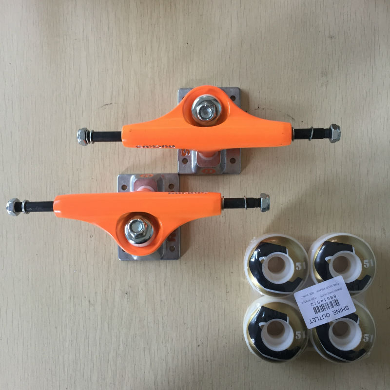 RUCKUS Skateboards Components Aluminum Skateboard Trucks Size 4.75 or 5 and CHOCOLATE Skateboarding Wheels 51mm феникс презент декоративная обезьяна с тортом