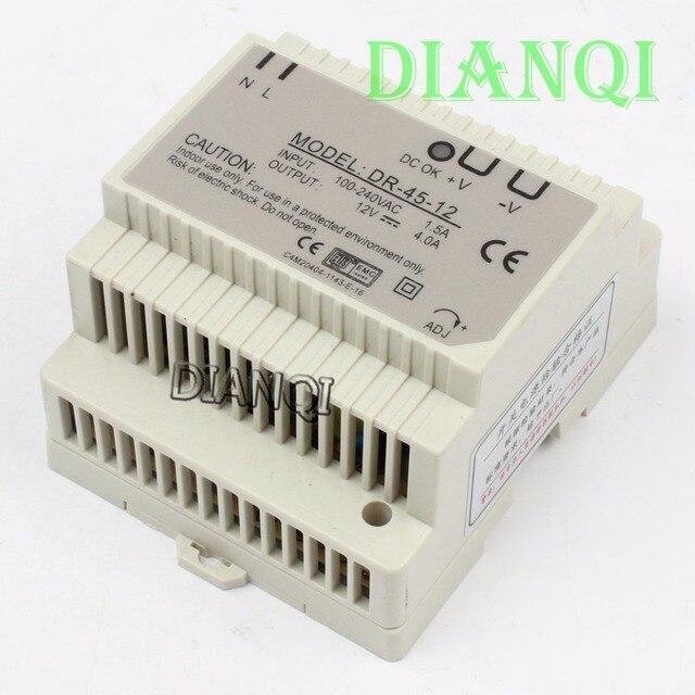 DIANQI Din rail power supply 45w 12V power suply 12v 45w  ac dc converter dr-45-12 good quality