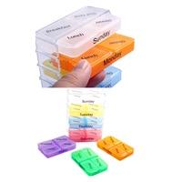 7 Days Pill Case Tablet Sorter Medicine Weekly Storage Box Container Organizer WS99