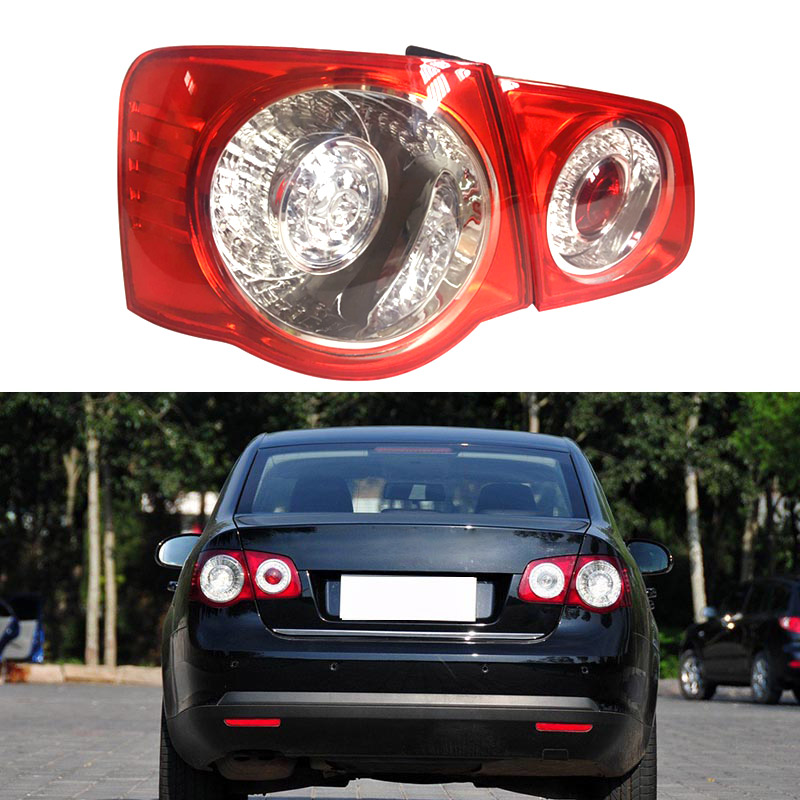 Car Led Light For VW Jetta V5 2005 2006 2007 2008 2009 2010 Car-Styling LED Rear Tail Light Lamp Outer inner Left Right Side LHD red left right car rear side tail light brake lamp light for toyota hilux 2005 2006 2007 2008 2009 2010 2015 lh rh