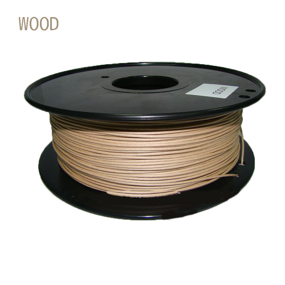 1.75mm Wood PLA 3D Printer Filament 0.8kg Dimensional Accuracy +/- 0.03mm for 3D Printers, Natural plastic Rubber Consumables