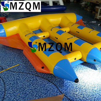 inflatable flying fish water sports equipment for 6 players flying fish towable inflatable flying banana boat tube MZQM  Excellent quality and cheap price inflatable flyfish banana boat/PVC Tarpaulin Inflatable Flying Fish Tube Towable