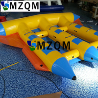 MZQM Excellent quality and cheap price inflatable flyfish banana boat/PVC Tarpaulin Inflatable Flying Fish Tube Towable