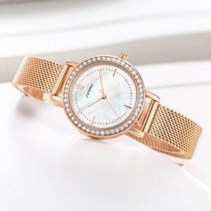 Image 5 - SINOBI reloj de marca de lujo para mujer, elegante, de cuarzo, resistente al agua, de pulsera, informal, femenino
