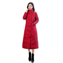 Womens Fashion 2019 New Parkas Coats Plus Size Long Cotton Solid color Jacket Ladies Warm Thicks Winter Female Outerwear