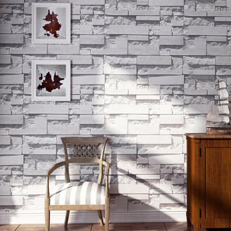 3d simulation stereoscopic brick wall wallpaper non woven for Waterproof wallpaper for walls