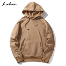 Купить с кэшбэком LeeLion 2018 Spring Hoodies Men Long Sleeve Loose Sweatshirts Fashion Solid Hip Hop Streetwear Pullover Sportswear High Quality