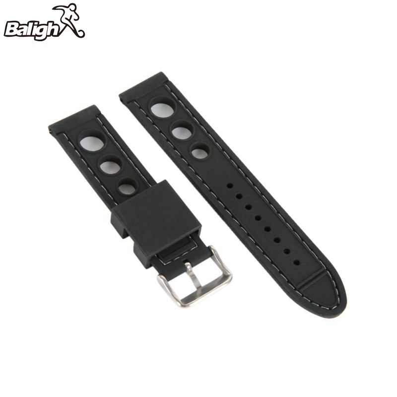 20mm 22mm 24mm Silicone Watch Band High Quality Wristwatch Strap Fashion Women Men Watch Band 2016 new price drop silicone watch women chain watch band high quality wristwatch personality digital diamonds quartz watch new
