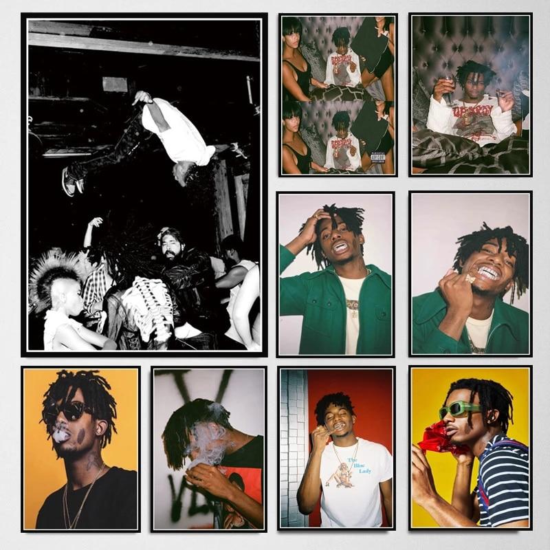 poster prints playboi carti die lit rapper hip hop music star album oil painting canvas wall art pictures living room home decor