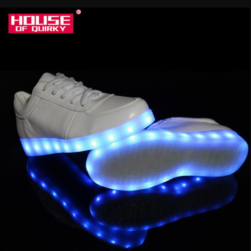 Men's Casual Shoes Shoes Men Shoes Led Luminous Shoes For Men Fashion Light Up Casual 7 Colors Usb Charge Led Shoes White Footwear Sneakers Zapatos