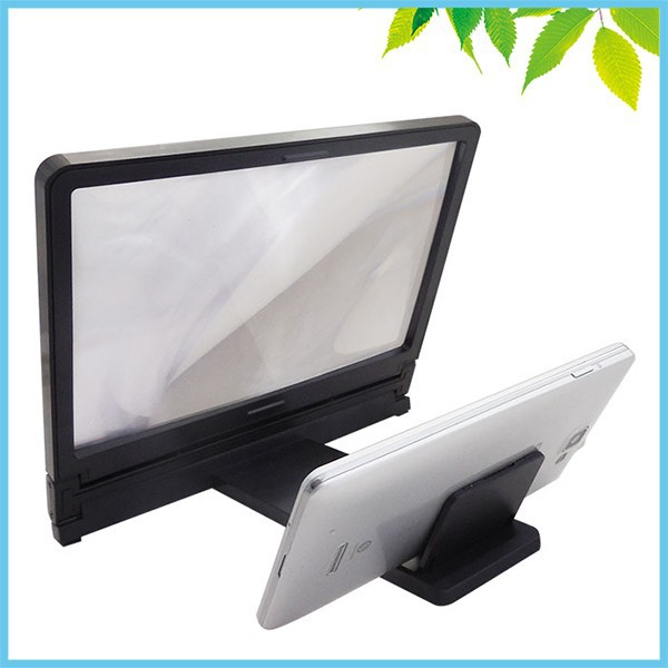 3X Mobile Phone Screen Magnifier HD Fresnel Lens Expander Enlarge Magnifier With Holder Stand for Mobile Watching TV 1