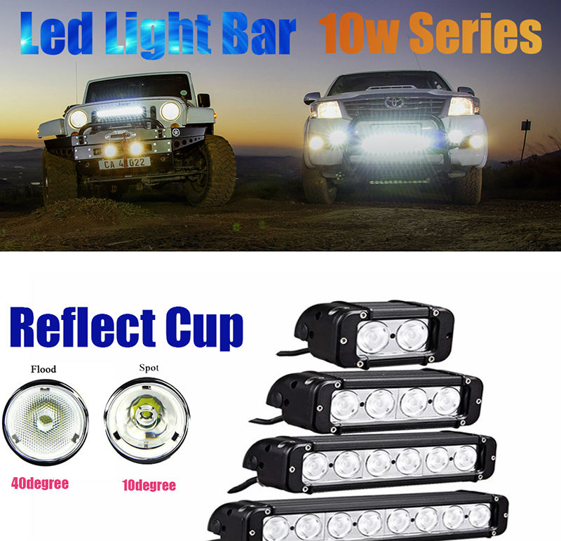 20w 40w 60w 100w 180w 240w 260w 280w 300w 320w LED Light Bar with CREE Chips Offroad Led Work Light Bar Driving Beam Combo for 12v 24v Truck ATV SUV 4WD 4x4 (1)