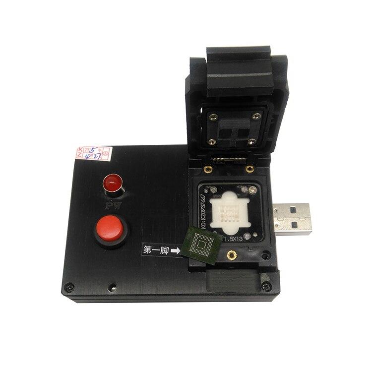 EMMC153/169 Clamshell Pogopin Probe USB Disk Test Fixture For EMMC153/169 Test Socket/Adapter/Readernand Flash Testing