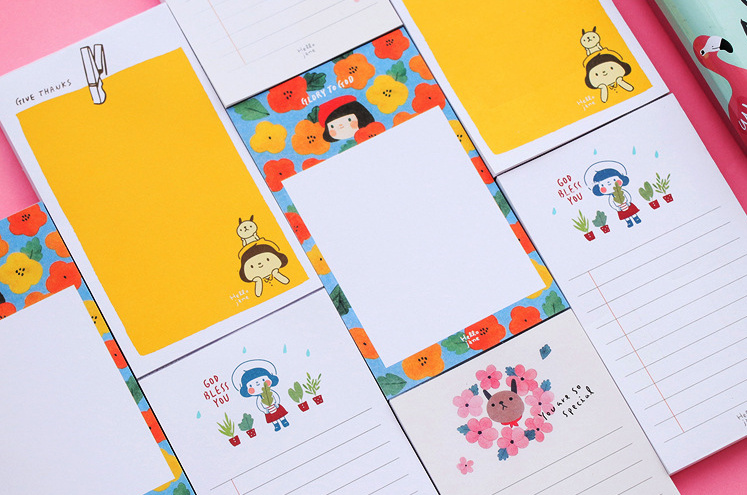 Cartoon tear Plan List Memo Pad Notepad Bookmark Post it Label School Office Supply Escolar Papelaria Gift Stationery