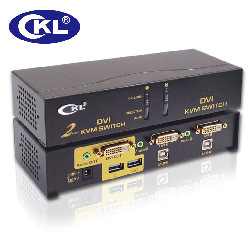 CKL 2 Port USB DVI KVM Switch PC Monitor Keyboard Mouse Switcher Support Audio Auto Scan 1080P CKL-92D mouse keyboard penetrator file data sharer clipboard sharing 1 km set control 2 host pc linker kvm switch without vga usb gadget