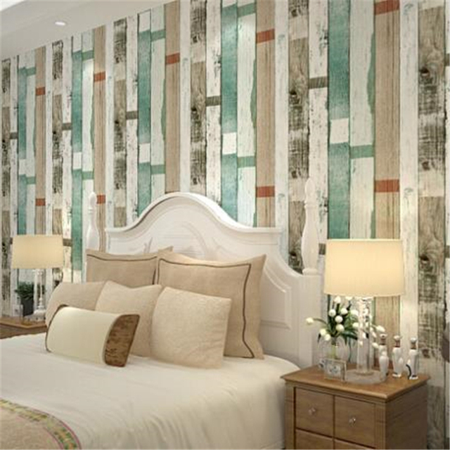 Buy Wood Panel Stripes Vintage Wallpaper Roll Embossed Effect Feature Bedroom