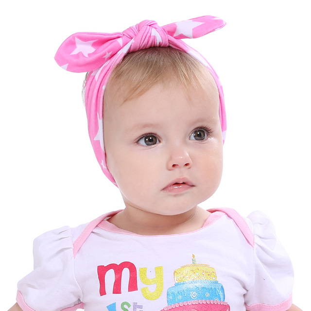 1f08293b8dc 10pcs New Girls Bow Knot Heart Butterfly Headband kid s Rabbit Ear Dot  Print Head Wrap Kids Hair Band Accessories