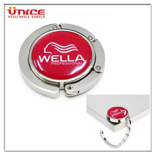 100pcs/lot Customized bag hanger Personalized logo Metal Purse Foldable Hook Corporate Promotional Gifts