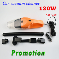 SALBEITECH 5M 120W 12V Car Vacuum Cleaner Super Suction Wet And Dry Dual Use Vaccum Cleaner For Car