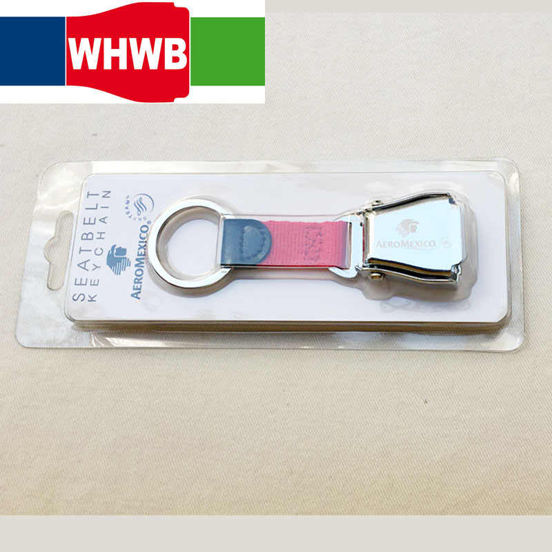 3778509d0a465b ... Aeromexico airline aviation airplane seat belt buckle keychain safety  seatbelt aircraft buckle keyring ...
