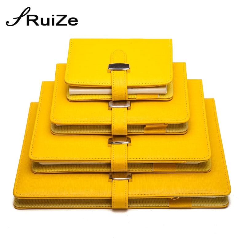 RuiZe creative leather <font><b>spiral</b></font> <font><b>notebook</b></font> <font><b>A5</b></font> A6 A7 B5 big note book ring binder planner organizer agenda notepad office supplies image