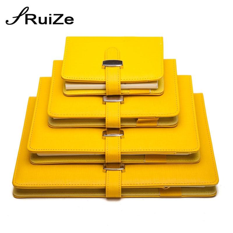Ruize criativo couro espiral notebook a5 a6 a7 b5 grande nota livro anel binder planejador agenda notepad material de escritório