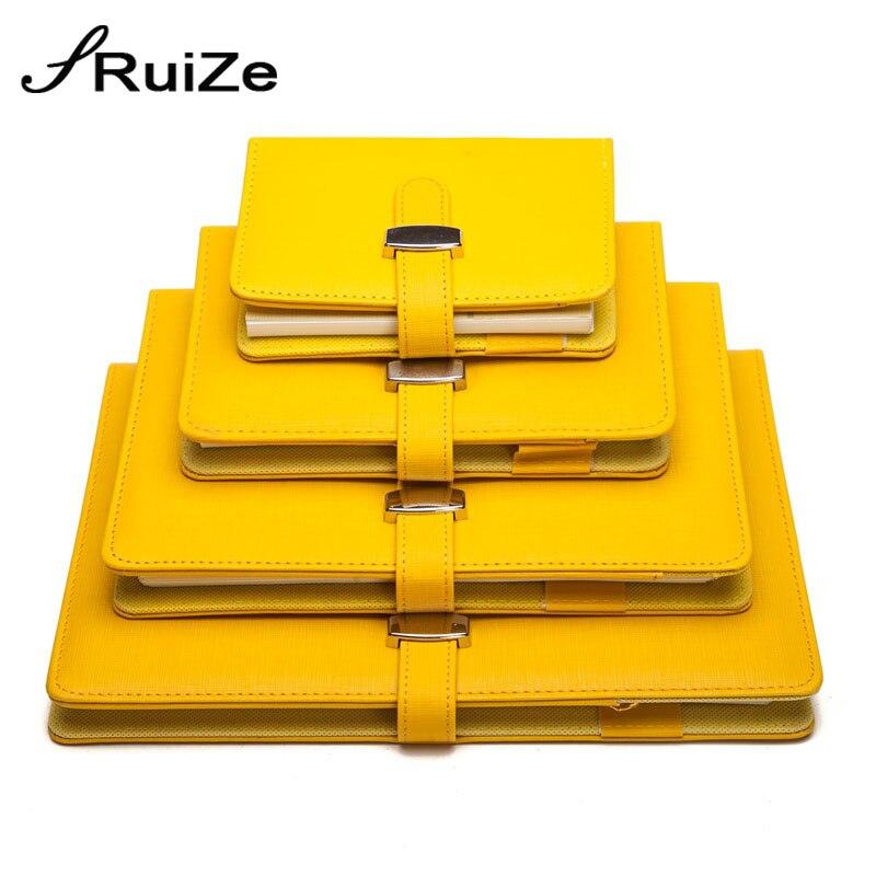 Ruize criativo papelaria couro espiral notebook a5 a6 a7 b5 grande nota livro anel binder planejador organizador material de escritório