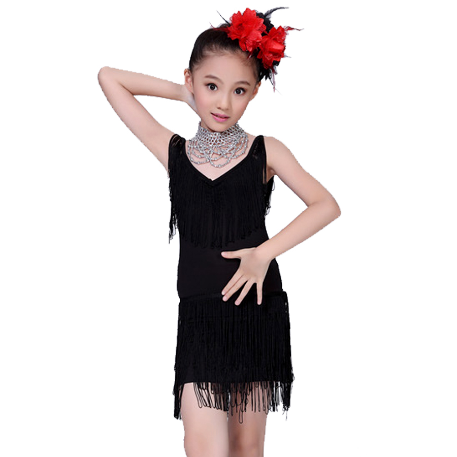 Dance Clothes For Girls Black/Red Kids Ballroom Dresses XXS XXL Latin Costumes For Kids Tassel Competition Dance Costume-in Latin from Novelty u0026 Special Use ...  sc 1 st  AliExpress.com & Dance Clothes For Girls Black/Red Kids Ballroom Dresses XXS XXL ...