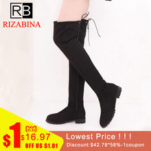 899d7c040a9 Customers also viewed. Thigh High Boots Female Winter Boots Women Over the Knee  Boots Flat Stretch Sexy Fashion Shoes