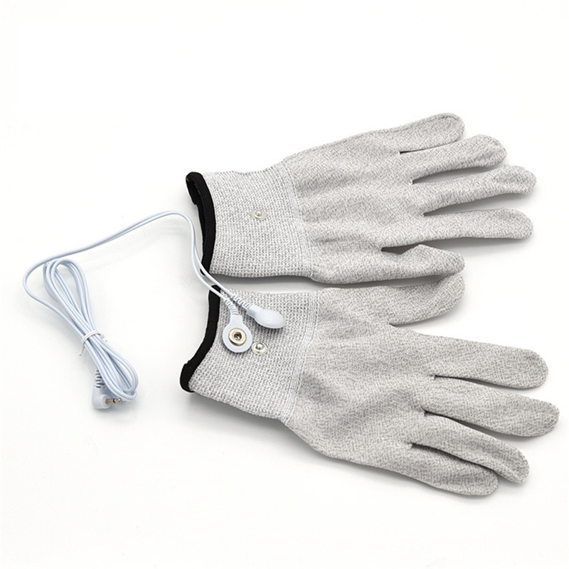 Electro Shock Gloves Electricity Conductive Gloves Adult Products Electrical Shock Silver Fiber Therapy Electrode Gloves