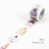 Parfumflesje Stijl Japanse Washi Tape Kawaii DIY Decoratieve Plakband Scrapbooking Afplakband Sticker Label Briefpapier