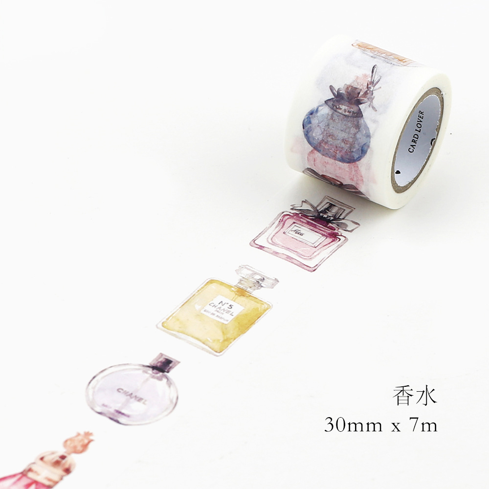 Perfume Bottle Style Japanese Washi Tape Kawaii DIY Decorative Adhesive Tape Scrapbooking Masking Tape Sticker Label Stationery 1roll 35mmx7m high quality rabbit home pattern japanese washi decorative adhesive tape diy masking paper tape label sticker gift page 9