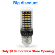 On sale E27 E14 led lamp AC220V SMD5730 LED corn bulb with 70LEDs high lumen led light chandelier pendant lights lampada hotsale