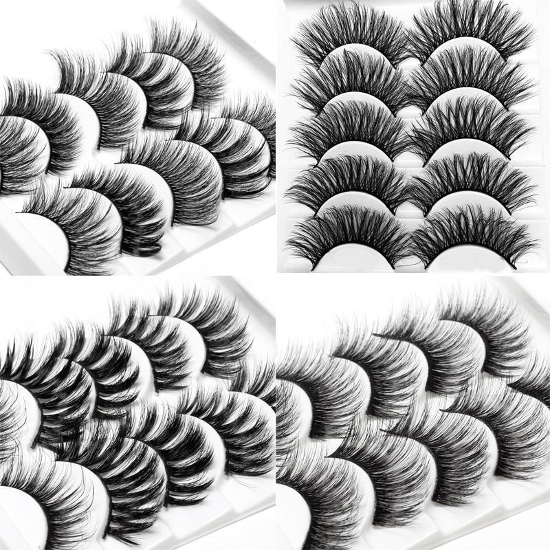 ICYCHEER 21 Style Makeup 3D Mink Eyelashes Set Handmade False Eyelash Eye Lashes Extension Wispy Messy Long Thick Natural Soft